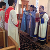 Very Rev. Fr. Simeon Odabashian celebrates the Divine Liturgy in Cleveland.