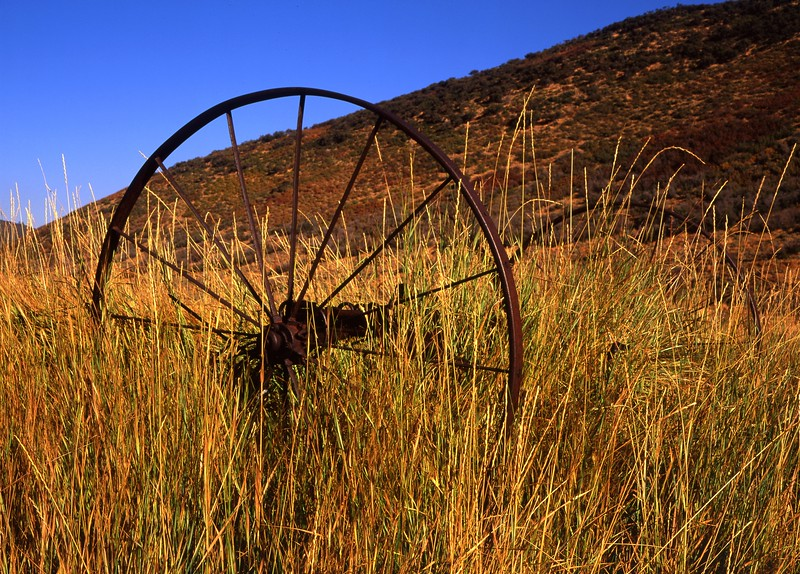 Old Farm Wheel, McPolin Farm, Park City, Utah