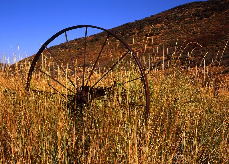 Old Farm Wheel, McPolin Farm, Park City, Utah