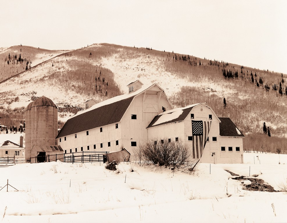 """Park City Barn, Sepiatone"", Park City, Utah."