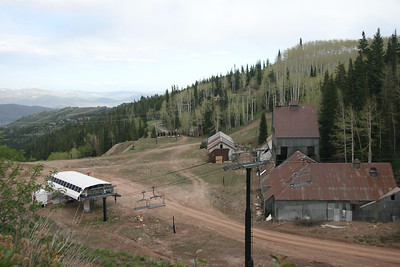 Park City old Mining camp from Mid-Mtn-trail