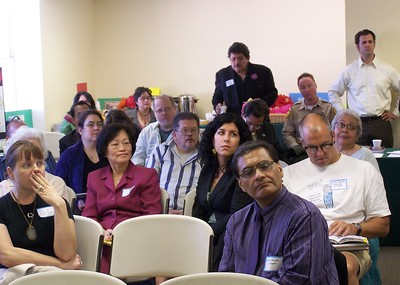 One of the public meetings and community work sessions to enable dialog and input about the Los Angeles State Historic Park's Interpretive Master Plan. Standing in the back, in white shirt, is Sean Woods.