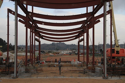 2014, Welcome Pavilion Construction