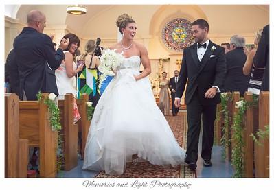 Wedding ceremony at the Good Shepard Parish in Wayland,  Massachusetts