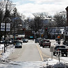 The traffic on Park Street in Leominster near Monument Square was very light just before noon on Tuesday, March 24, 2020. SENTINEL & ENTERPRISE/JOHN LOVE