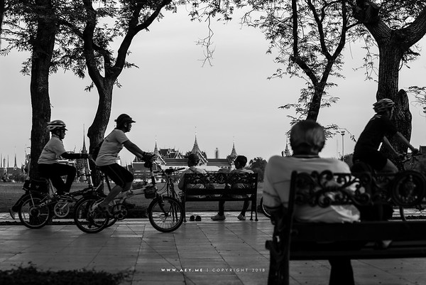People of Bangkok at Sanam Luang