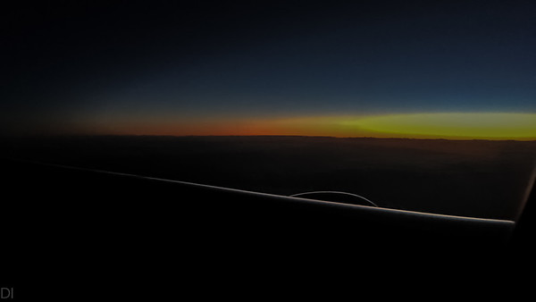 Very first light... east of Ireland.