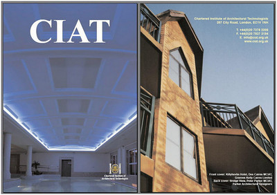 An Institute publication with Bridge View, my development on Bedford's beautiful Victorian Embankment, on the cover.