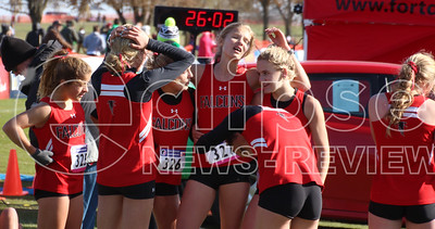 A-P girls at state cross country (11/2/19)