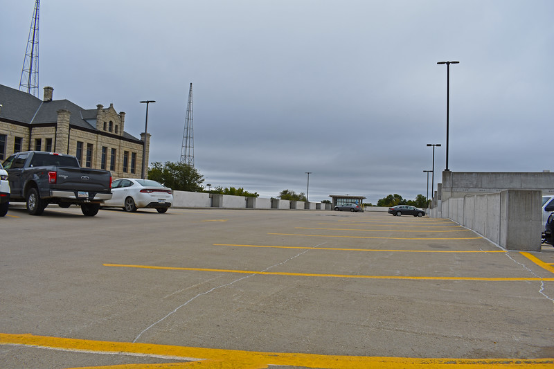 The Kansas State parking garage ( Dalton Wainscott I Collegian Media Group )