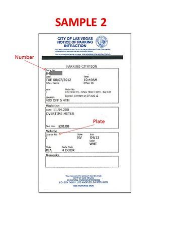 Parking Ticket Sample 2
