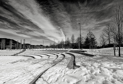 Coquitlam Amphitheatre in winter