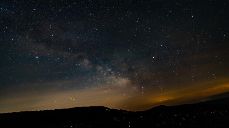 Milky Way and Meteor Fireflies