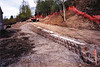 retaining wall along new trail