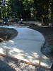 new sidewalk to play equipment