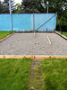 concrete pad for goalie boxes, ready for pour