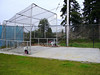 portable backstop storage area