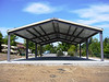 Picnic shelter has been erected and painted