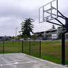 basket ball court and lawn area