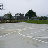 basketball court looking toward future playground area (to be installed by the City of Stanwood)