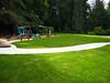 new turf and playground area