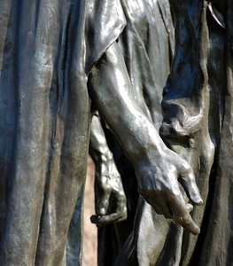 The Burgher of Calais Hands Auguste Rodin Washington DC