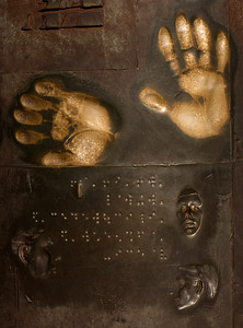 "Hands on the wall Franklin Delano Roosevelt Memorial ""Social Programs"" Sculptor Robert Graham"