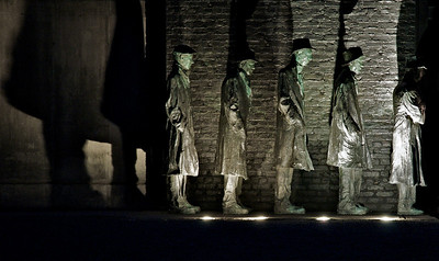 "The breadline sculpture by George Segal ""Depression Bread Line"" at Grounds for Sculpture"