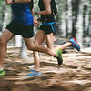 motion blur forest trail run