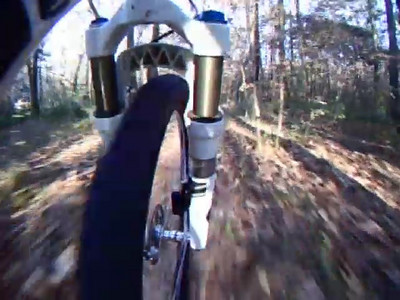 "5 Feb '09 ~6 minute video clip is ""part 2"" of a two part tour around the Bog Loop. This clip begins just before the Polos Bridge. Continue clockwise around the loop back to 130m exit spur and out to Park at Richview. Logs at ~4:15-4:30 into video are being worked on. Log pyramid coming. This is the GPS track for the entire ride."