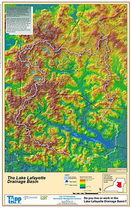 """Where does the water in the """"creek"""" come from, and where does it go? Map from here."""
