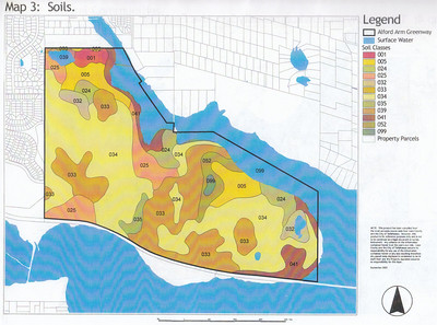 J. R. Alford September 2002 DRAFT Management Plan Map 3: Greenway soils map. See Management Plan p.7 (.pdf p14).