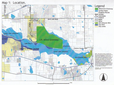 J. R. Alford September 2002 DRAFT Management Plan Map 1: The greenway's relative location.