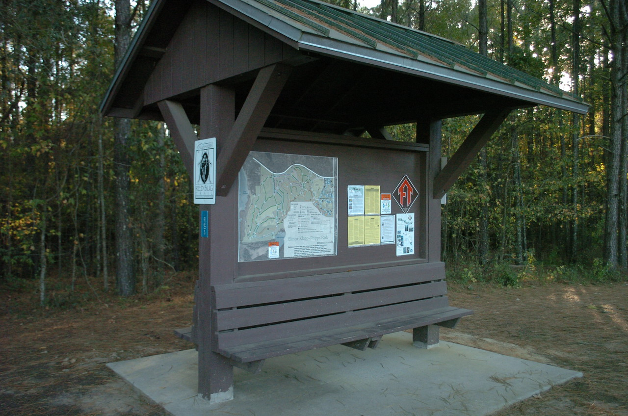 RS-1, the main trailhead (Red Bug and Hiking Trails).
