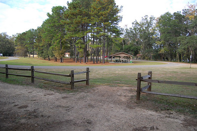 The parking area for Lafayette Heritage Park is a loop. Picnic pavilions with water, grills, a restroom, playground, fishing (including handicapped accessible dock), kayak/canoe trail. Cars can access this area by driving through Piney Z Plantation. That's on the east side of Tallahassee, off Conner Blvd. Conner Blvd is the continuation of Park Avenue beyond US319 aka Capital Circle.
