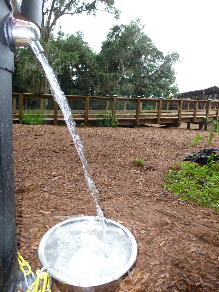 12 July 2014: Added a dog bowl to the new water fountain.