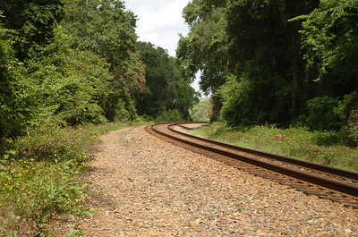 South side of the old grade crossing, looking westward toward the new bridge location.