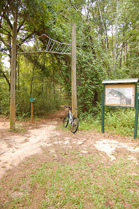Magnolia Trail's trailhead, just west of the BMX Track.