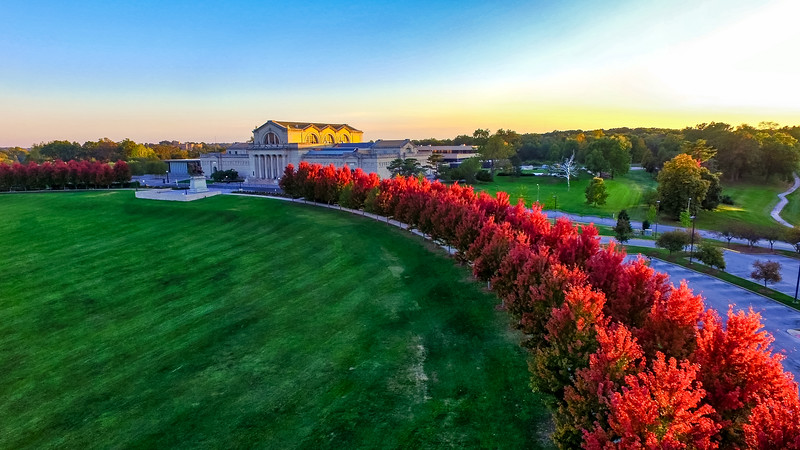 St. Louis Art Museum in the Fall