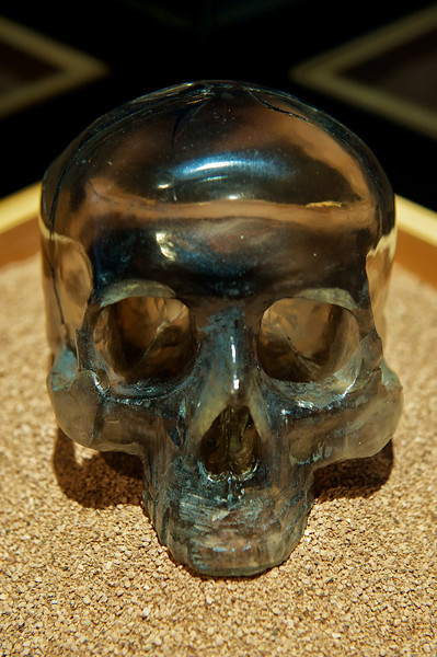 "Crystal Skull<br /> Natural History Museum in Balboa Park, San Diego Featuring ""ALL THAT GLITTERS"" - The Splendor & Science of Gems & Minerals.<br /> Exhibition Highlights:<br /> <a href=""http://www.sdnhm.org/archive/exhibits/allthatglitters/highlights.php"">http://www.sdnhm.org/archive/exhibits/allthatglitters/highlights.php</a><br /> ***Photos taken without flash through glass/plexiglass"