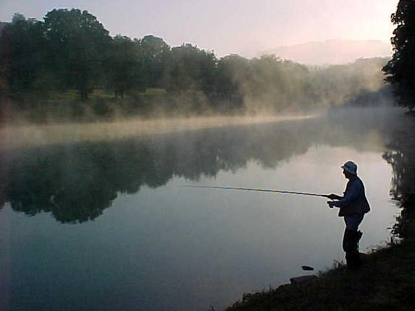 Morning Fog at Cummings Dam