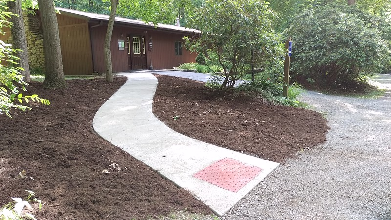 Accessible Sidewalk at Blue Spruce Lodge