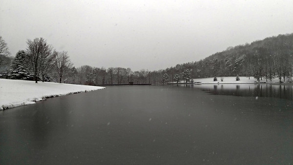 Cummings Dam in Snow