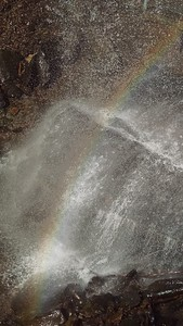 Rainbow at Buttermilk Falls