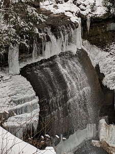 Winter Ice at Buttermilk Falls