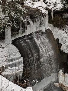 Winter Ice at Buttermilk Falls