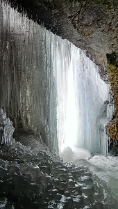 Ice Cave at Buttermilk Falls