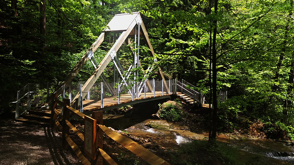 Eclipse Bridge at Buttermilk Falls, Indiana County PA