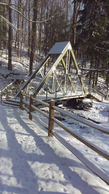 Snowy Eclipse Bridge