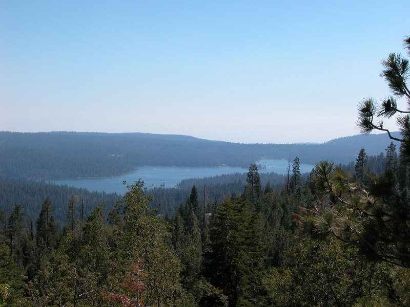 Shaver Lake - BSA Camp Chawanakee in far middle